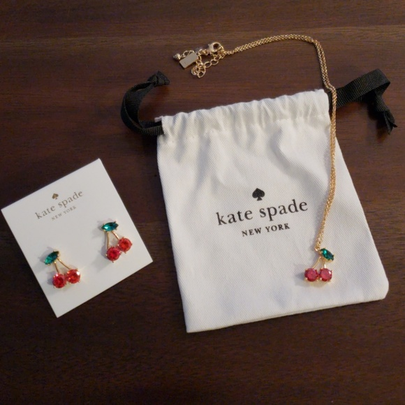 kate spade Jewelry - Kate Spade cherry necklace and earrings